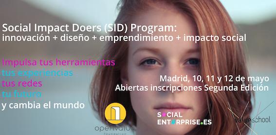 2ª Edición del Programa Social Impact Doers (SID) sobre emprendimiento e innovación social